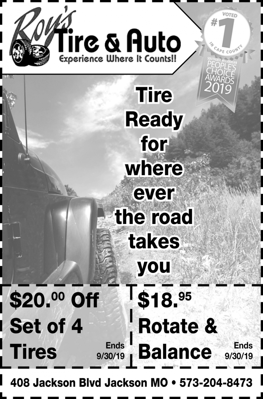 Tire Ready for Where Ever the Road Takes You
