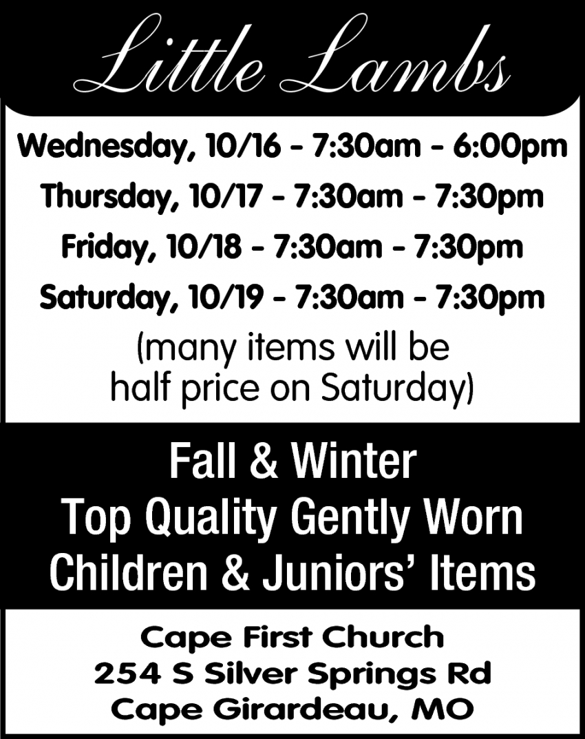 Fall & Winter top Quality Gently Worn Children & Juniors' Items