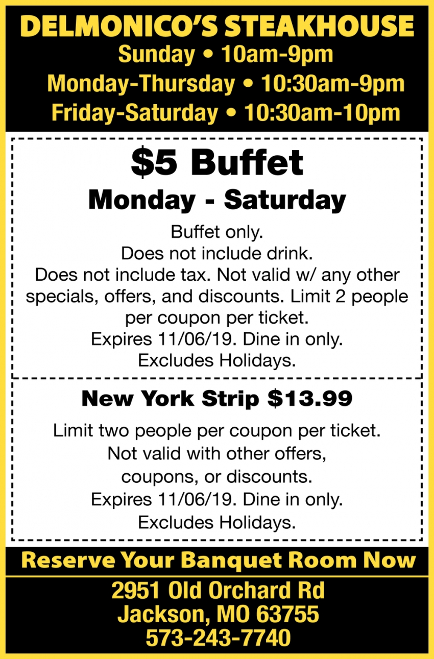 $5 Buffet