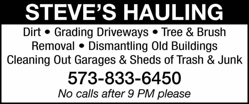 Cleaning out Garages & Sheds of Trash & Junk