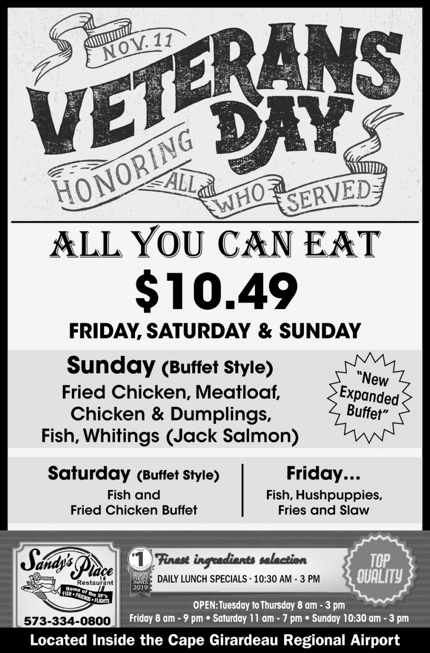 All You Can Eat $10.49