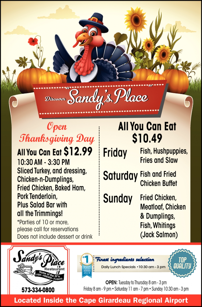 Open Thanksgiving Days!