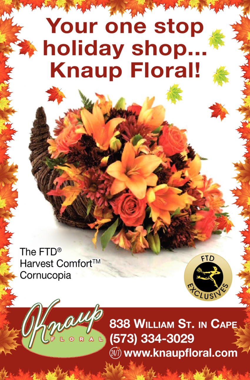 Your One Stop Holiday Shop... Knaup Floral!