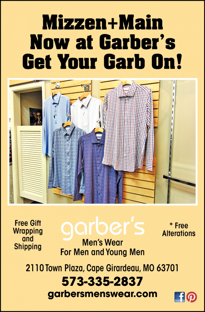 Mizzen+Main Now at Garber's Get Your Carb On!