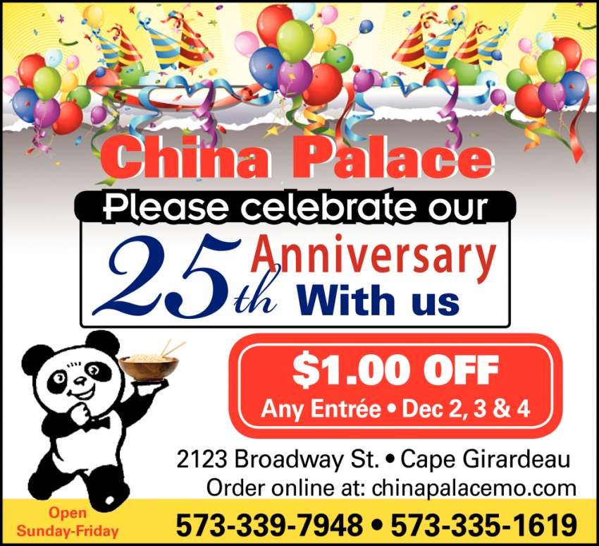 Please Celebrate Our 25th Anniversary With Us