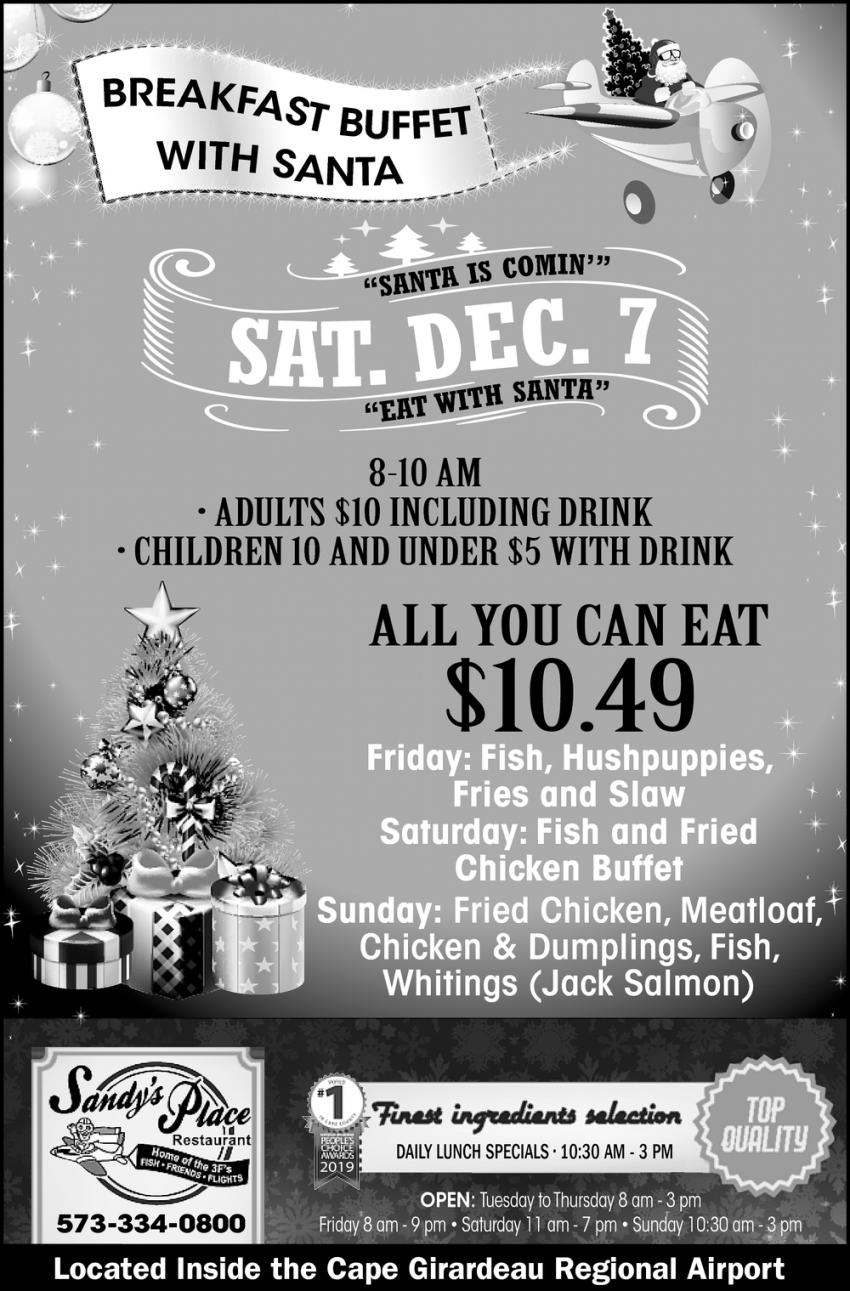 Breakfast Buffet with Santa