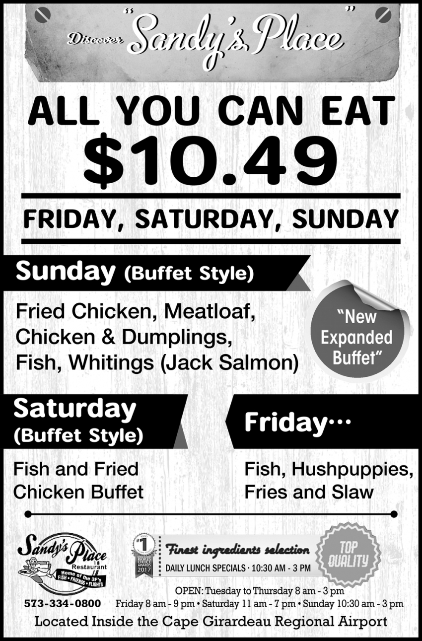 New Expanded Buffet