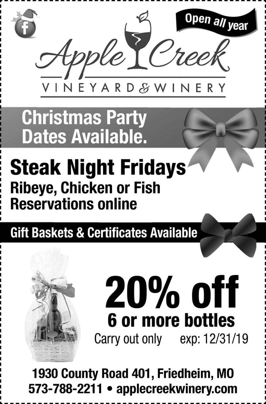 Steak Night Fridays
