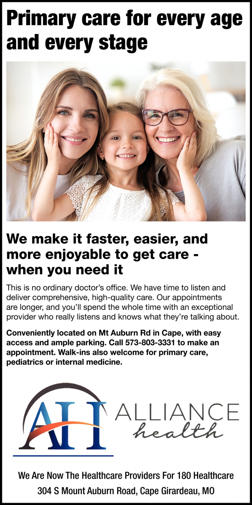 Primary Care for Every Age and Every Stage