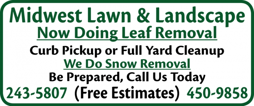 Now Doing Leaf Removal