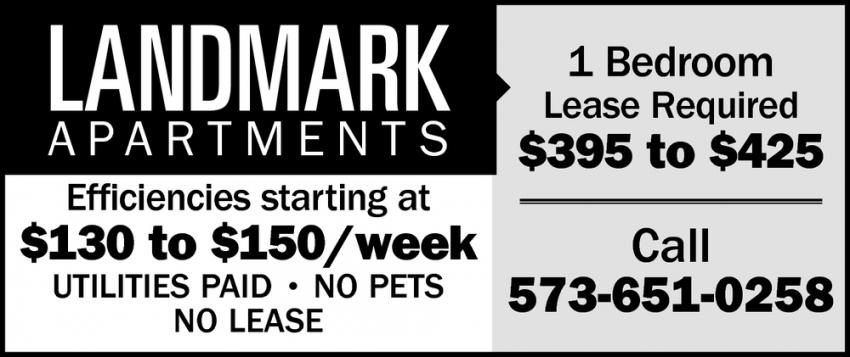 Efficiencies Starting at $130 to $150/Week
