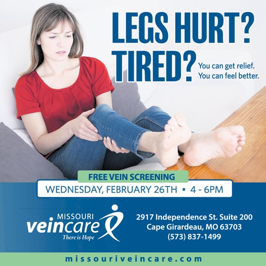 Legs Hurt?